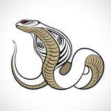 抽象蛇,纹身花刺 库存图片