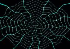 抽象蜘蛛蜘蛛网蓝色墙纸 免版税库存照片