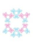 抽象蝴蝶框架 免版税库存图片