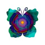 抽象蝴蝶红色蓝色蓝色颜色 免版税库存图片
