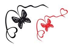 抽象蝴蝶重点 库存图片