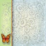 抽象蝶粉花例证 库存图片