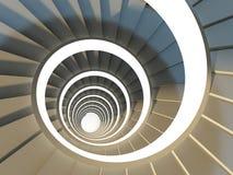 抽象螺旋形楼梯 免版税库存照片