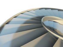 抽象螺旋形楼梯 免版税图库摄影