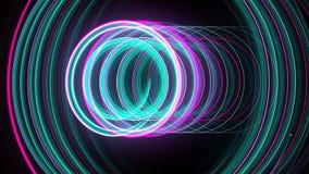 抽象螺旋转动的焕发线,计算机生成的背景,回报背景的3D 皇族释放例证