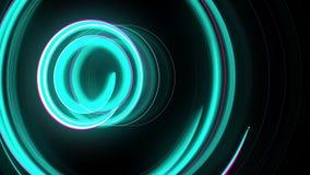 抽象螺旋转动的焕发线,计算机生成的背景,回报背景的3D 库存例证