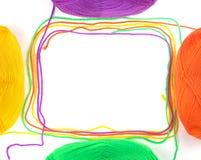 抽象螺纹框架 库存照片