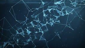 抽象行动背景-数字式任意数字结节数据网 皇族释放例证