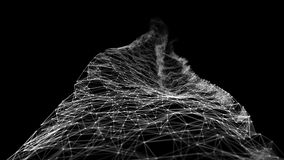 抽象行动-数字式结节多角形数据网阿尔法铜铍
