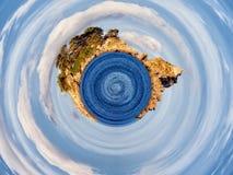抽象行星场面 免版税库存照片