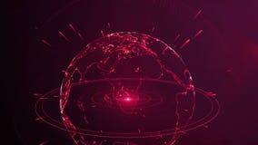 抽象行星红色 股票录像