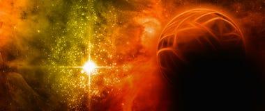 抽象行星 免版税库存照片