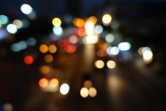 抽象街灯背景 免版税库存照片