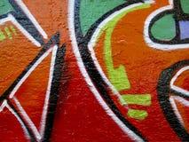 抽象街道画红色墙壁 免版税库存照片