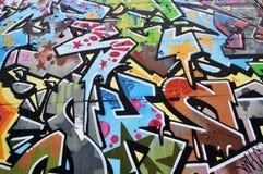 抽象街道画 库存图片