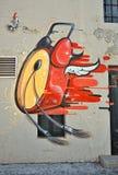 抽象街道画墙壁 向量例证