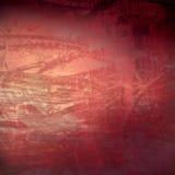 抽象被构造的grunge有机红色技术 免版税库存图片