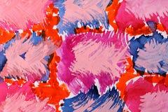 抽象装饰品纸张水彩 免版税图库摄影