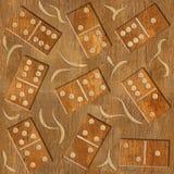 抽象装饰多米诺-木纹理-无缝的背景 库存图片
