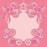 抽象装饰框架粉红色 免版税图库摄影