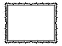 抽象装饰框架装饰物郁金香 免版税图库摄影