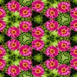 抽象装饰花背景 无缝五颜六色的模式 库存图片