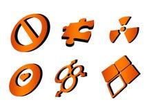 抽象要素徽标 向量例证