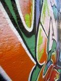 抽象角度街道画视图墙壁 免版税库存图片