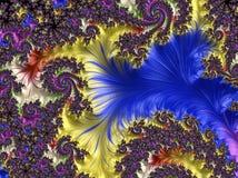 抽象计算机生成的分数维设计 图库摄影