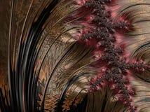 抽象计算机生成的分数维设计 免版税库存图片