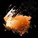 抽象设计元素。刷子冲程和油漆sp 向量例证