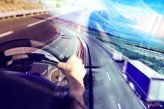 抽象设计国际发货和高速公路 图库摄影
