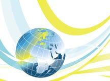 抽象设计地球世界 免版税库存图片