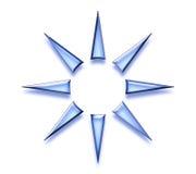 抽象设计星形 免版税库存照片