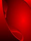抽象设计红色波浪 皇族释放例证