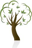 抽象设计结构树 免版税库存照片