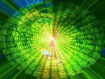 抽象设计绿色螺旋 免版税库存图片
