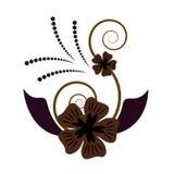 抽象设计花卉向量 免版税库存照片