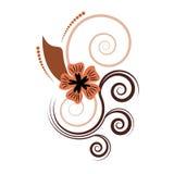 抽象设计花卉向量 免版税库存图片