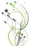 抽象设计花卉向量 皇族释放例证