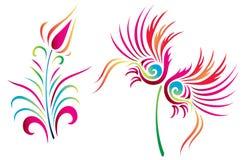 抽象设计设计花卉例证 免版税库存图片
