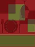 抽象设计邀请菜单 免版税库存照片