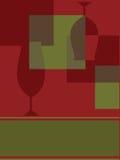 抽象设计邀请菜单 免版税库存图片