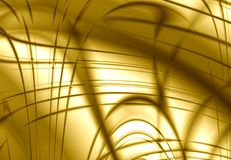 抽象设计金子黄色 图库摄影