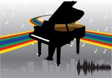 抽象设计钢琴 向量例证