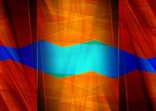 抽象设计,蓝色和红颜色,背景 皇族释放例证
