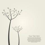 抽象设计结构树 库存图片