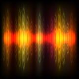 抽象调平器背景。红橙色波浪。 免版税库存照片