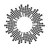 抽象调平器音乐声波圈子传染媒介象标志  向量例证
