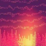 抽象调平器,音乐,声波, DJ 也corel凹道例证向量 库存图片